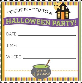 Halloween Activity • Halloween Party Planning Craftivity