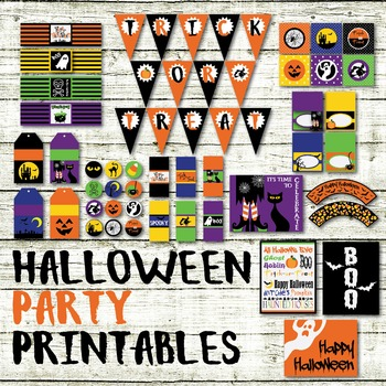 Halloween Party Printables and Decorations - Printable