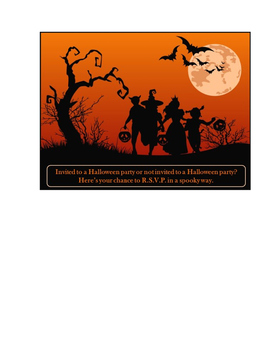 Halloween Party RSVP