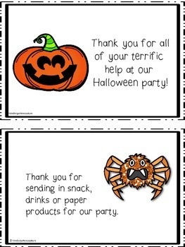 Halloween Party Thank You