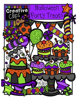 Halloween Party Treats {Creative Clips Digital Clipart}