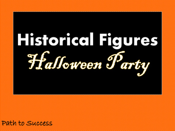 Halloween Party for Historical Figures!