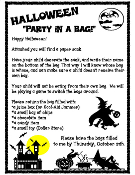 Halloween Party in a Bag!