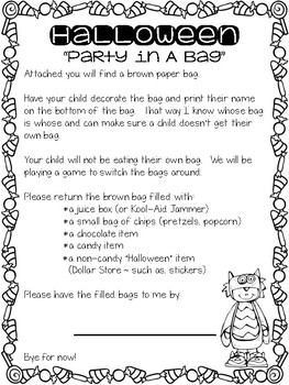 Halloween Party in a Bag (Freebie)