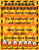 Halloween Passage Informational Text & Questions with Context Clues RI3.4 RI4.4