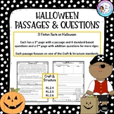 Halloween Passages and Questions - Craft & Structure