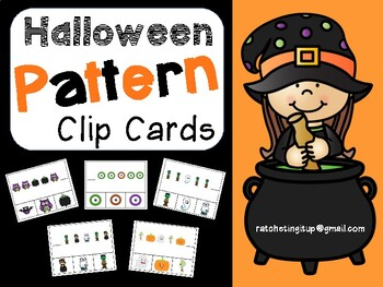 Halloween Pattern Clip Cards