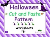 Halloween Pattern Cut and Paste Worksheets: