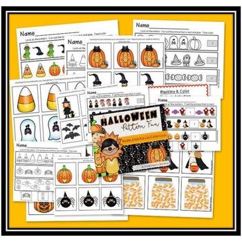 Halloween Pattern Fun  - Blackline and Game