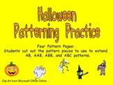 Halloween Pattern Independent Practice for Kindergarten-1st Grade