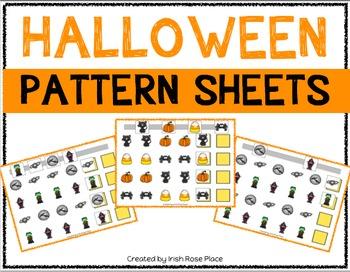Halloween Pattern Mats