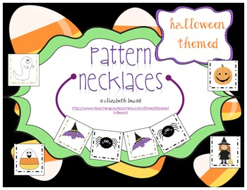 Pattern Necklaces: Halloween Theme