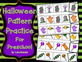 Halloween Pattern Skills Practice for Preschool
