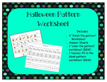 Halloween Pattern Worksheets