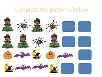 Halloween Pattern and Math Practice