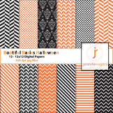 Halloween Patterned Digital Background Paper