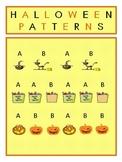 Kindergarten Halloween Patterning