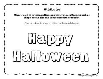Halloween Patterning Fun