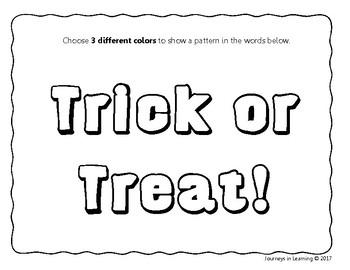 Halloween Patterning Fun - U.S. Version