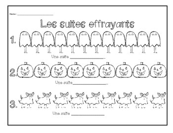 Halloween Patterning- Grade 1 French Immersion