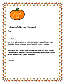 Halloween Patterning Homework