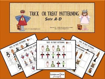 Halloween Patterning Trick or Treat Math Activity