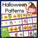 Halloween Math Center with AB, ABC, AAB & ABB Patterns