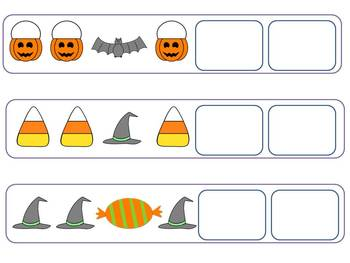 Halloween Patterns- AB, AAB, and ABC Patterns by Elizabeth Hodge
