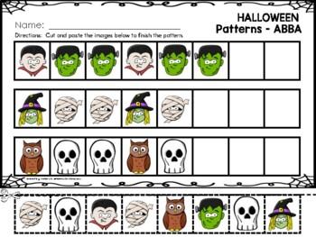 Halloween Patterns - AB, ABC, AABB & Mix