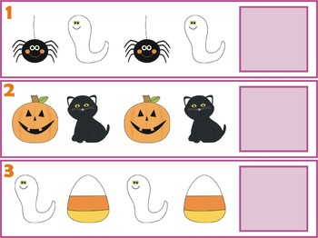 Halloween Patterns Center - Differentiated & Self-Correcting