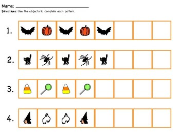 Halloween Patterns (Differentiated Worksheets/Activities)
