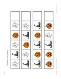 Halloween Patterns File Folder Game - Completing Simple Patterns