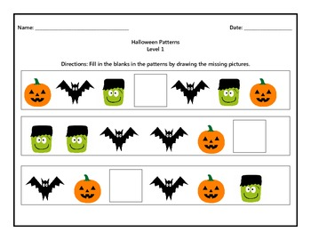 Halloween Patterns Level 1