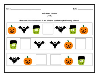 Halloween Patterns Level 2