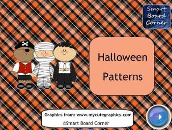 Halloween Patterns SMART Board Lesson