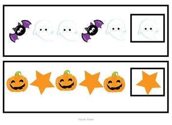 Halloween Patterns Task Cards/Adapted Book