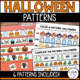 Halloween Patterns - AB, ABC, ABB, AAB, AABB, ABCD - Cut & Glue