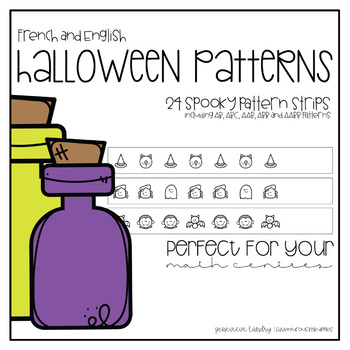 Halloween Patterns for English and French Classrooms