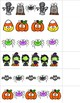 Halloween Patterns for Math Centers with AB, ABC, AAB, ABB, & AAAB  Patterns