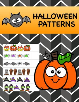 Halloween Patterns for Math Centers with AB, ABC, AAB, ABB, & AAAB ...