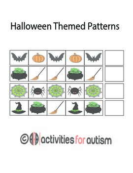 Halloween Patterns w/ ABA style emphasis