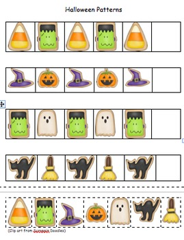 Halloween Patterns(Pocket Chart Set Included)