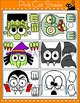 Halloween Decorations - Peeking Characters: Zombie, Witch, Frankenstein, Ghost