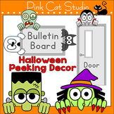 Halloween Decorations - Peeking Characters: Zombie, Witch,