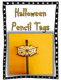 Halloween Pencil Tags