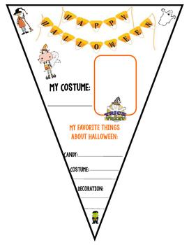 Halloween Pennant Banner Activity