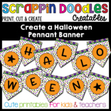Halloween Pennant Banner Craft {Scrappin Doodles Creatables}