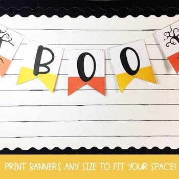 Halloween Pennant Banners (Editable)