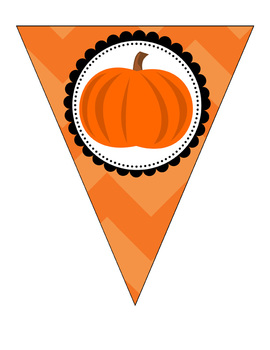 Halloween Pennant/ Bunting 3 - Uppercase and lowercase letters + extras