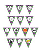 Halloween Pennant/ Bunting 4 - Uppercase and lowercase letters + extras